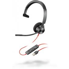 Poly Plantronics BlackWire C3310, BW3310 USB-A, дротова Mono гарнітура