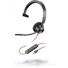 Poly Plantronics BlackWire C3310, BW3310 USB-С, дротова Mono гарнітура