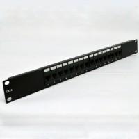 "Патч-панель 19"" 16xRJ-45 UTP, кат. 6, dual type"