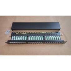 """Патч-панель 19"""", 24xRJ45, STP, кат.5E, 1U KD-PP30-STP-C5e-24P"""