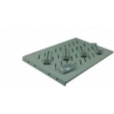 Полка универсальная усиленная Hypernet на 4 точки для шкафа/стойки глубиной 1000 (770) до 100 кг