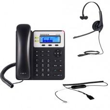 Grandstream GXP1620 + Jabra BIZ 1500 Mono QD + кабель Jabra GN1200 CC