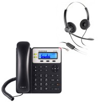 Grandstream GXP1620 + Plantronics SP12