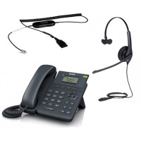 Yealink SIP-T19 E2 + Jabra BIZ 1500 Mono QD + кабель Jabra GN1200 CC