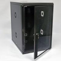 Монтажна шафа 18U, 600х800х907мм (Ш * Г * В), акрилове скло, чорна, серія MGSWA