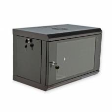 Монтажный шкаф 6U, 600х350х373 мм (Ш*Г*В), эконом, акриловое стекло, черный., серия MGSWL