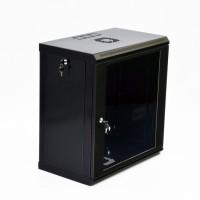 Монтажный шкаф 12U, 600х350х640 мм (Ш*Г*В), эконом, акриловое стекло, черный, серия MGSWL