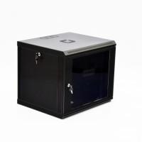 Монтажный шкаф 12U, 600х600х640 мм (Ш*Г*В), эконом, акриловое стекло, черный., серия MGSWL