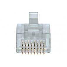 Коннектор RJ45 8P8C Hypernet 50 mkm 6 категория упаковка 100шт, Hypernet